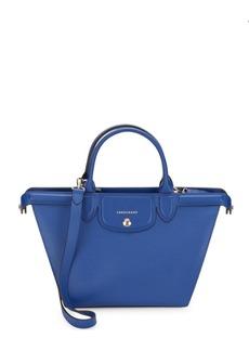 Longchamp Zippered Leather Shoulder Bag