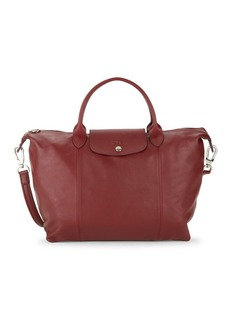 Longchamp Le Pliage Leather Top Handle Bag