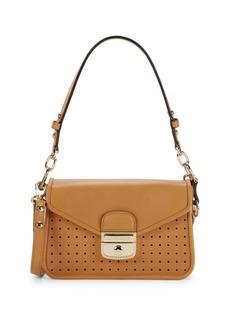 Longchamp Perforated Leather Crossbody Bag
