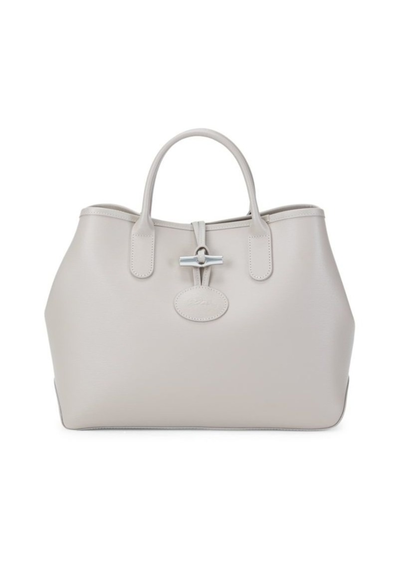 Longchamp Roseau Split Leather Tote