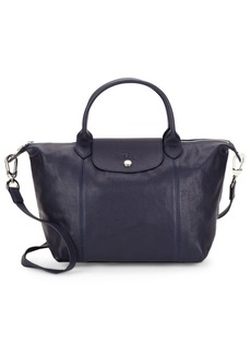 Longchamp Small Leather Top Handle Bag