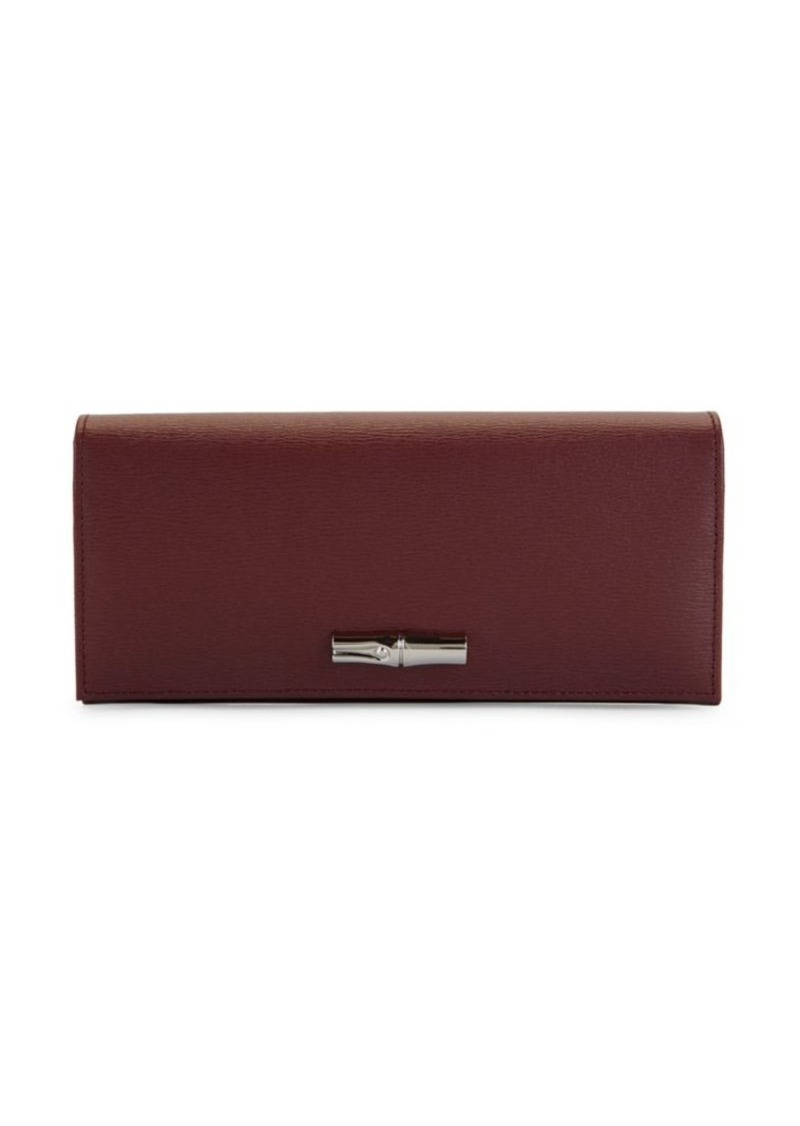 Longchamp Textured Leather Continental Wallet