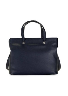 Longchamp Textured Leather Satchel