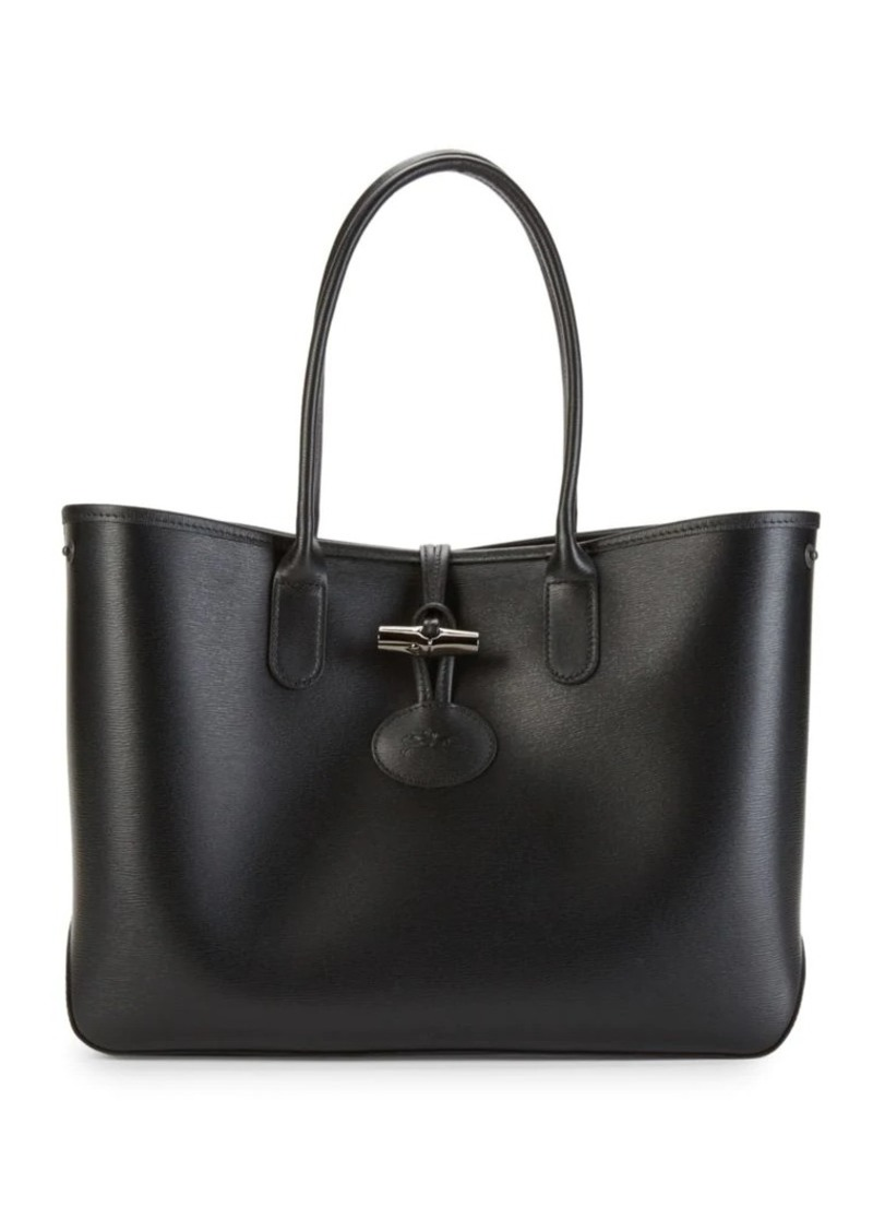 Longchamp Toggle Leather Tote