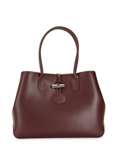 Longchamp Toggle-Top Leather Tote