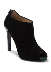 Longchamp Too Night Peep Toe Heeled Bootie