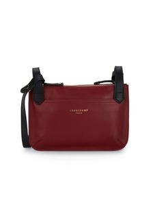Longchamp Top Zip Leather Shoulder Bag
