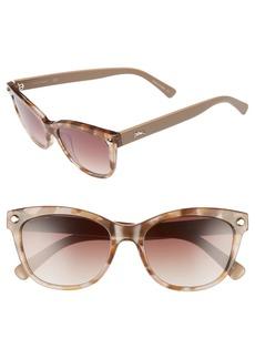 Women's Longchamp 53mm Gradient Lens Cat Eye Sunglasses - Marble Beige