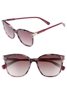 Women's Longchamp 54mm Square Sunglasses - Havana Purple