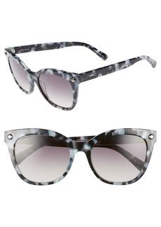 Women's Longchamp 55mm Cat Eye Sunglasses - Marble Grey