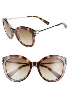 Women's Longchamp 55mm Cat Eye Sunglasses - Havana
