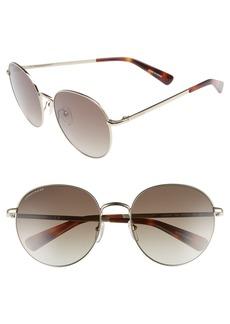 Women's Longchamp 56mm Round Sunglasses - Gold