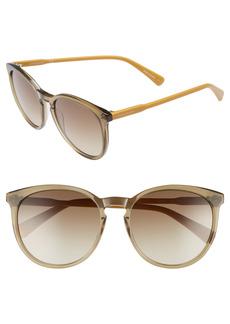 Women's Longchamp 56mm Round Sunglasses - Military/ Ochre