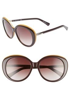 Women's Longchamp 57mm Gradient Oval Sunglasses - Wine/ Ochre