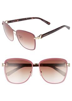 Women's Longchamp 58mm Metal Sunglasses - Gold/ Rose