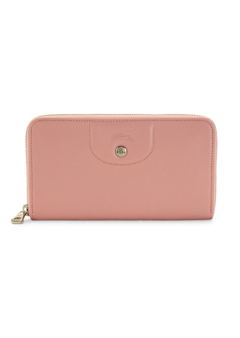 Longchamp Zip-Around Leather Wallet
