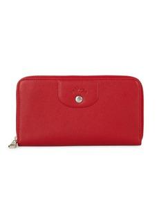 Longchamp Zip-Around Leather Wallet