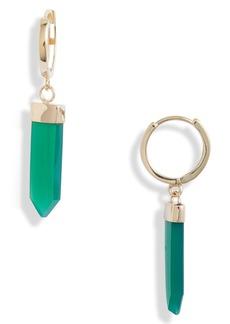 Women's Loren Stewart Moderna Paleta Green Agate Earrings