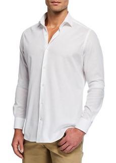 Loro Piana Andrew Cotton Pique Sport Shirt