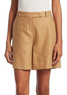 Loro Piana Antigua Linen Bermuda Shorts