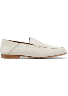 Loro Piana Astoria Suede Collapsible-heel Loafers