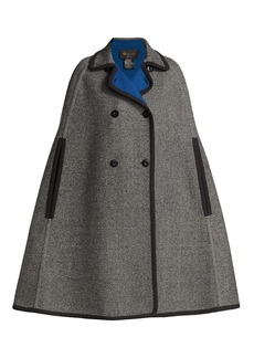 Loro Piana Audrine Double-Breasted Reversible Cashmere Cape