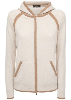 Loro Piana Baby Cashmere Knit Zip-up Hoodie