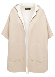 Loro Piana Baby Two Tone Cashmere Blend Knit Cape