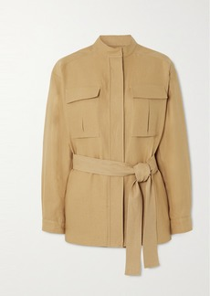Loro Piana Belted Linen Jacket