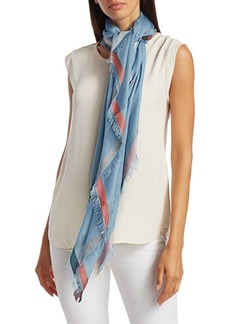 Loro Piana Border Stripe Cashmere & Silk Scarf