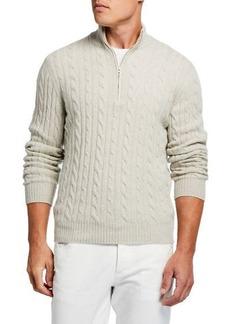 Loro Piana Men's Cashmere Cable-Knit Sweater
