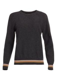 Loro Piana Cashmere Striped Trim Sweatshirt