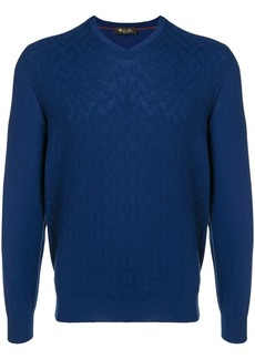 Loro Piana cashmere textured V-neck sweater