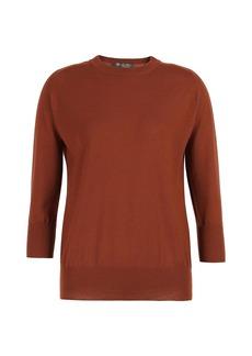 Loro Piana Cashmere Three-Quarter Sleeve Sweater