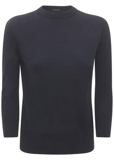 Loro Piana Cashmere Yarn Rib Knit Sweater