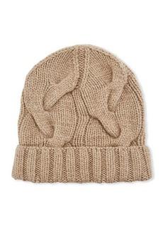 Loro Piana Chunky Knit Cashmere Beanie Hat