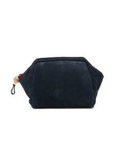 Loro Piana Convertible Puffy Suede Pouch