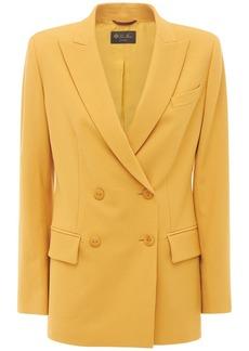 Loro Piana Double-breasted Twill Wool Jacket