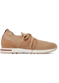Loro Piana Flexy Lady Cashmere, Suede And Leather Sneakers