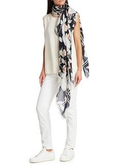 Loro Piana Floral Cashmere & Silk Scarf