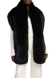 Loro Piana Fox Fur Shawl