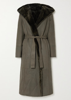 Loro Piana Harvey Reversible Hooded Belted Shearling Coat