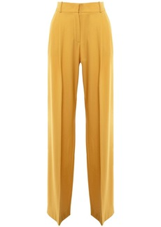 Loro Piana High Waist Wool Twill Wide Leg Pants