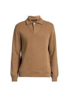 Loro Piana Horsey Pique Open Polo Shirt