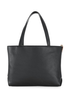 Loro Piana Inside Out M Reversible Leather & Cashmere Tote Bag