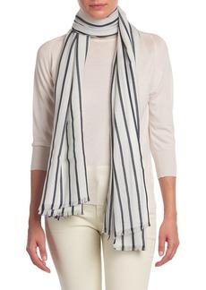 Loro Piana La Gravette Stripe Cashmere & Silk Scarf