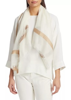 Loro Piana Large Square Cashmere & Silk Scarf