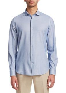 Loro Piana Leisure-Fit Cotton Casual Button-Down Shirt