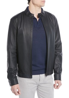 Loro Piana Lightweight Leather Bomber Jacket