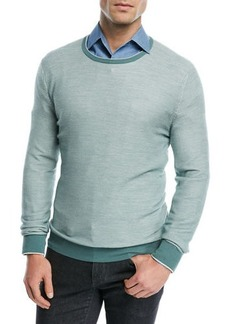 Loro Piana Lightweight Wool-Blend Crewneck Sweater
